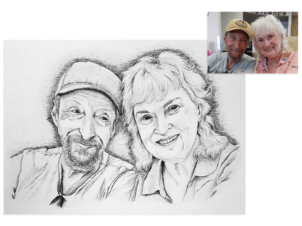 Family ink portrait