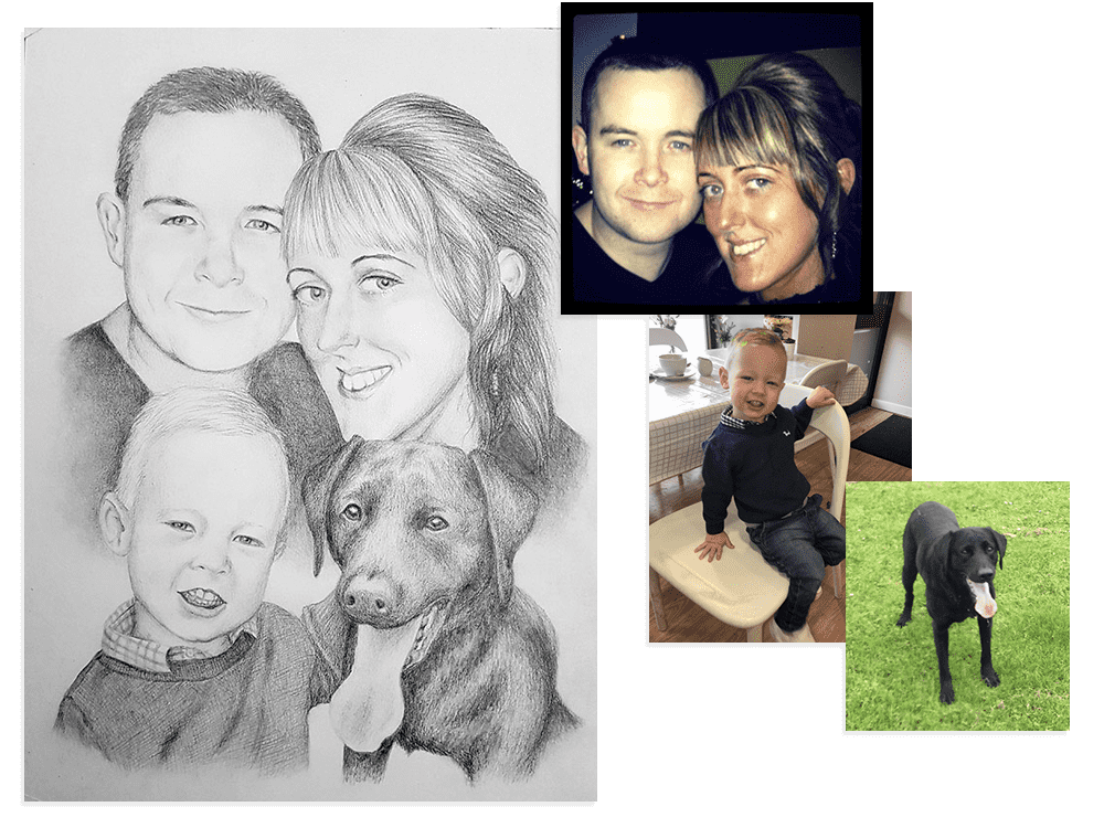 Commission A Portrait Drawing From Photos Paula Hightower Artist