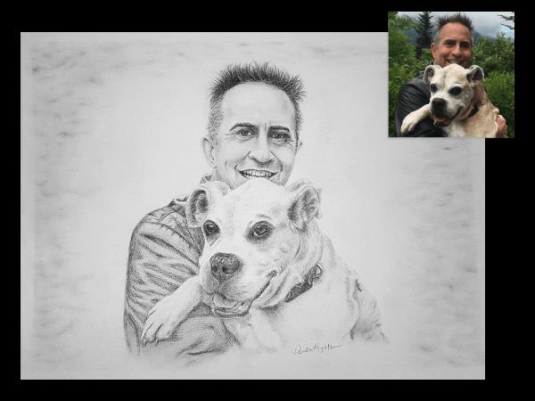Man's best friend pencil portrait