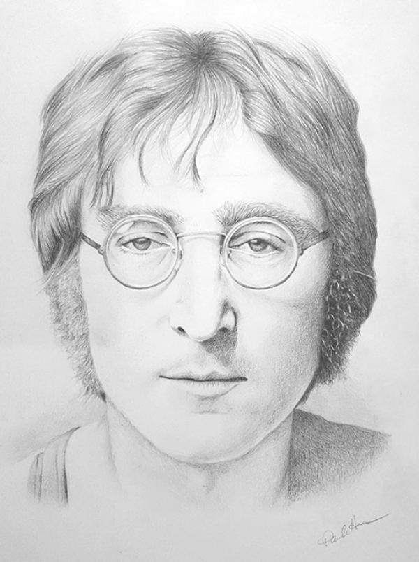 John Lennon pencil portrait