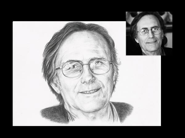 Pencil portrait of a man