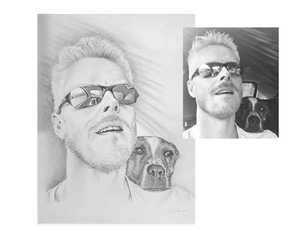 Pet pencil portrait